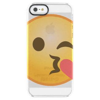 Küssen, Emoji blinzelnd Durchsichtige iPhone SE/5/5s Hülle