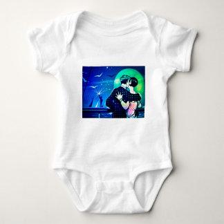 Küssen im Mondschein am Freiheitsstatuen Baby Strampler