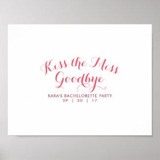 Küssen Sie den Junggeselinnen-Abschieds-Gast Poster