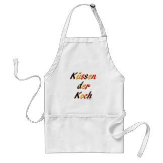 Küssen Sie die Koch-Tasse Schürze