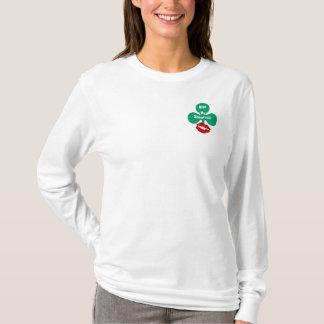 Küssen Sie mein Kleeblatt! Party-Spitzen St. T-Shirt