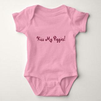 Küssen Sie mein Piggies! Baby Strampler