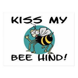 Küssen Sie meine Hinter Biene Postkarte