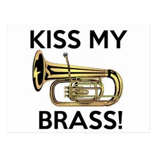 Küssen Sie meinen Messing, Tuba Postkarte