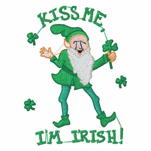 Küssen Sie mich, den ich Iren gestickter T - Shirt