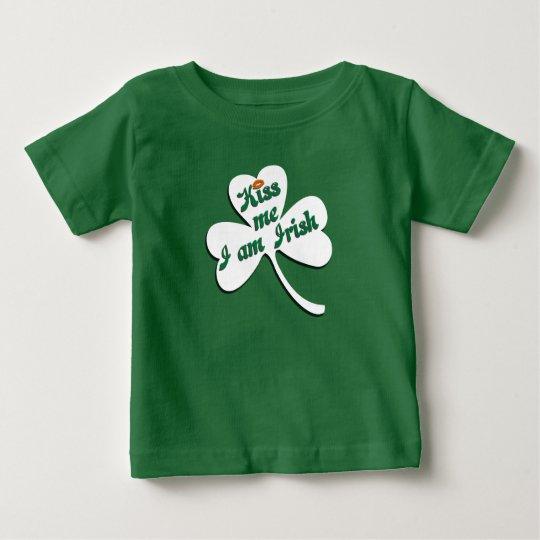 Küssen Sie mich, den ich irisch bin Baby T-shirt