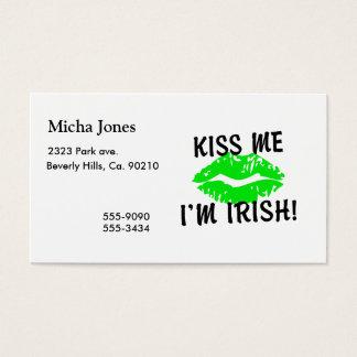 Küssen Sie mich, den ich irische grüne Lippen bin Visitenkarte