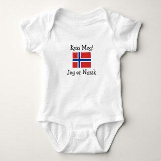 Küssen Sie mich! Ich bin norwegisch Baby Strampler