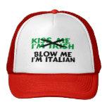 Küssen Sie mich Iren, den Im mich Italiener Im dur Baseball Kappe
