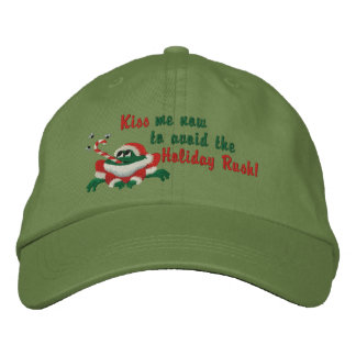 Küssen Sie mich jetzt Frosch Bestickte Kappe