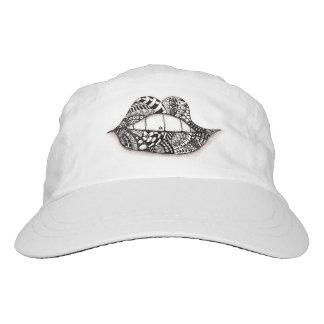 Küssen Sie mich Leistungs-Hut-Weiß Headsweats Kappe
