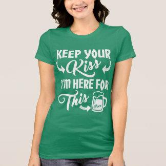Küssen Sie mich nicht, den ich hier für das T-Shirt