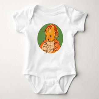 """""""Küssen Sie mich nicht"""" Vintages Retro Baby Baby Strampler"""