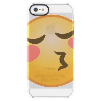Küssen von Emoji Durchsichtige iPhone SE/5/5s Hülle