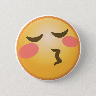 Küssen von Emoji Runder Button 5,7 Cm