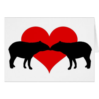 Küssen von Tapirs Karte