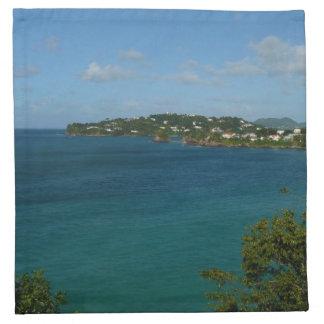 Küste des karibischen Ferien-Fotos St Lucia Serviette