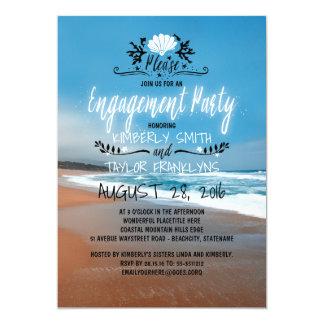 Küste des Strand-Verlobungs-Party-  Karte