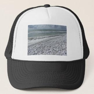 Küste eines Strandes an einem bewölkten Tag am Truckerkappe