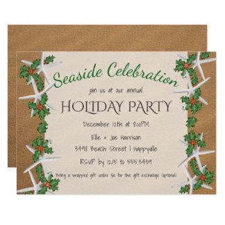 Küste-Feierstarfish-Feiertags-Party 12,7 X 17,8 Cm Einladungskarte