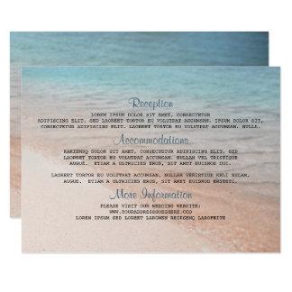 Küste-Hochzeit in Urlaubsorts-Details 8,9 X 12,7 Cm Einladungskarte