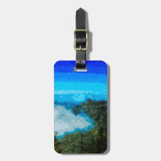 Küste Kauai-Na Pali von Koke'e abstrakt Gepäckanhänger
