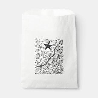 Küste-Linie Kunst-Entwurf Geschenktütchen