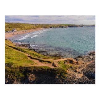 Küstenansicht Whitesands Bucht Pembrokeshire Wales Postkarte