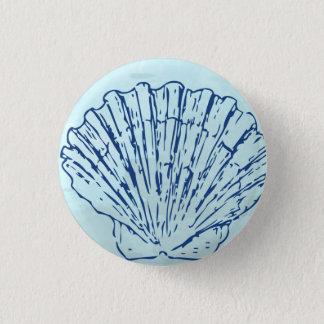 KüstenseeMuschelwatercolor-Knopf Runder Button 2,5 Cm