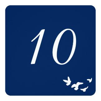 Küstenvögel, die | Tischnummer-Karte Wedding sind Quadratische 13,3 Cm Einladungskarte