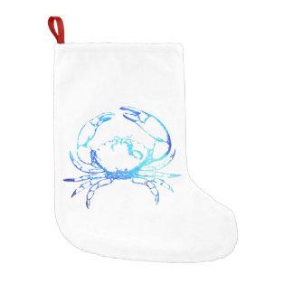 Küstenweihnachtsblaue Krabben-Strumpf Kleiner Weihnachtsstrumpf
