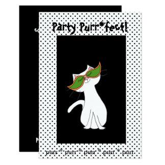 Kute Kitty-Halloween-Party-Einladungen Karte