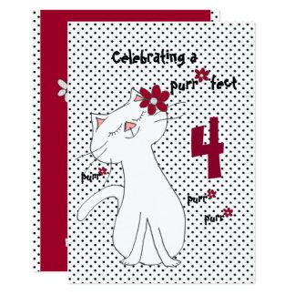 Kute Kitty Purr*fect Blumen-Geburtstagseinladung 12,7 X 17,8 Cm Einladungskarte
