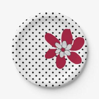 Kute Kitty Purr*fect Blumen-Papierplatte Pappteller 17,8 Cm