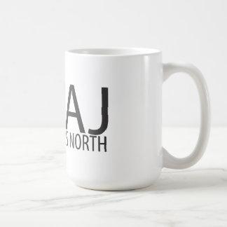 KWAJ neun Grad Nord Kaffeetasse