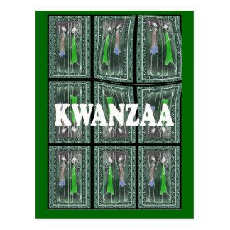 Kwanzaa - afrikanische Charaktere 2 Postkarte