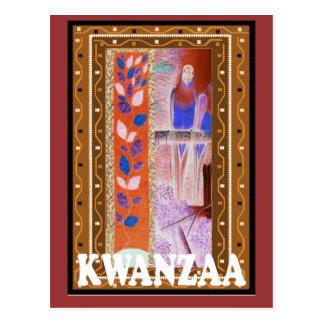 Kwanzaa - afrikanische Kunst Postkarte