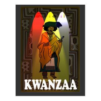 Kwanzaa - afrikanischer Charakter Postkarte