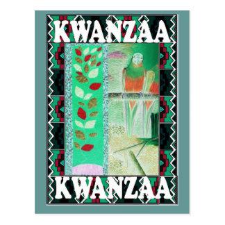 Kwanzaa - Blumen und ein Papagei Postkarte