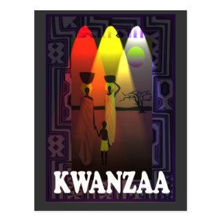 Kwanzaa - Familienexpedition Postkarte