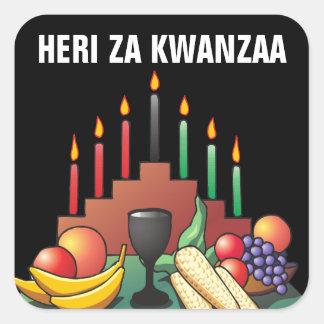 Kwanzaa-Segen Quadratischer Aufkleber