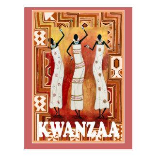 Kwanzaa - Tanzendamen Postkarte
