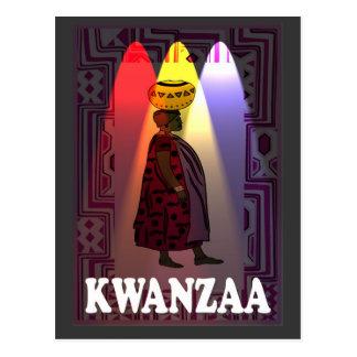 Kwanzaa - Wasserträger Postkarte