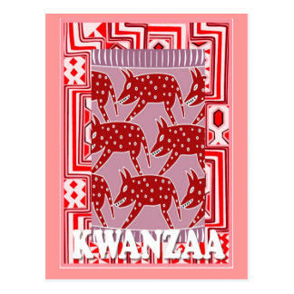 Kwanzaa - wilder Eber Postkarte