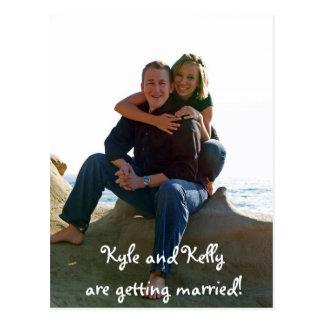 Kyle und Kelly erhalten verheiratet! Postkarte