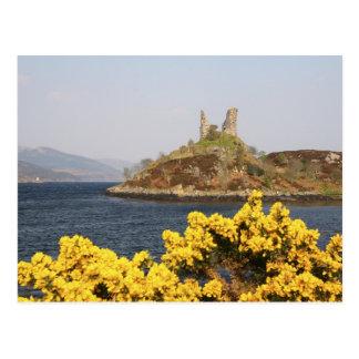 Kyleakin, Schottland. Die alten Ruinen von 2 Postkarte