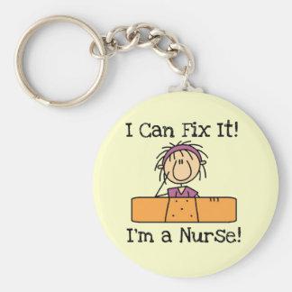 L infirmière I peut le fixer T-shirts et cadeaux Porte-clefs