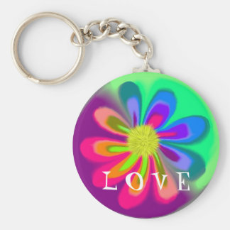 L porte - clé de fleur d'O V E Porte-clé Rond