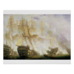 La bataille de Trafalgar, c.1841 (huile sur la toi Posters