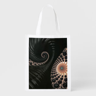 La belle fractale tournoie le décor d'art sacs d'épicerie réutilisables